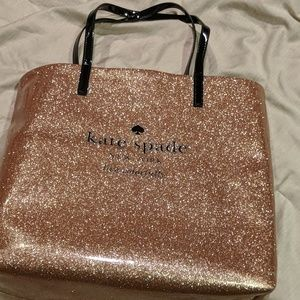 Kate Spade rose gold tote bag